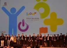 YOUNG PEOPLE FROM ALL OVER THE WORLD MET IN PARIS DURING THE 9th UNESCO YOUTH FORUM
